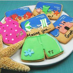 Summertime Beach Themed Cookies