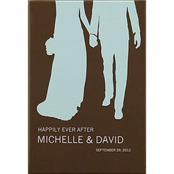 Personalized Perfect Couple Bride & Groom 24x36 Canvas Art