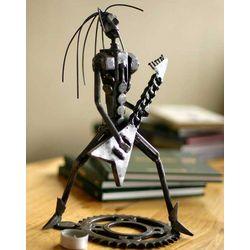 Punk Metal Guitarist II Auto-parts Sculpture