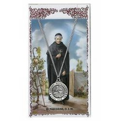 St. Peregrine Pendant and Prayer Card Set