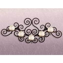 Wrought Iron Swirl Candle Holder