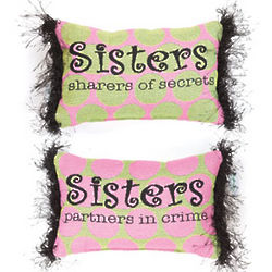 Sisters Reversible What is a Sister Word Pillow