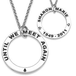Sterling Silver Until We Meet Again Memorial Name Necklace