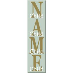 Family Members Vertical Name Sign