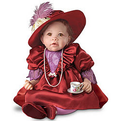 Sophia Lifelike Victorian Baby Doll with Teacup