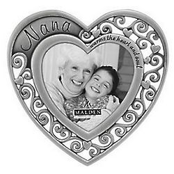 Nana Warms the Heart Silver Frame
