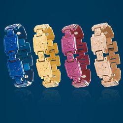 Fleur de Lis Cross Magnetic Ionic Titanium Bracelet