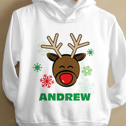 Personalized Christmas Reindeer Sweatshirt for Toddlers
