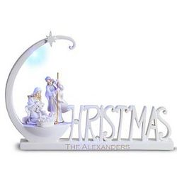 Personalized Christmas Word Nativity Figurine