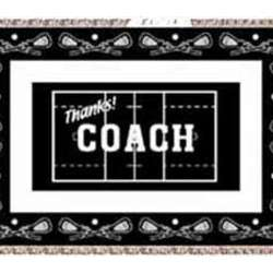 Personalized Lacrosse Coach Afghan