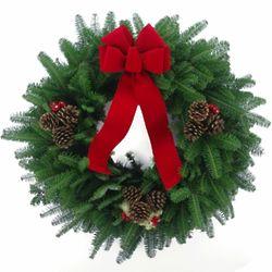 """24 """" Balsam Fir Christmas Wreath"""