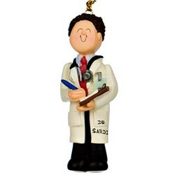 Personalized Doctor Male Christmas Ornament