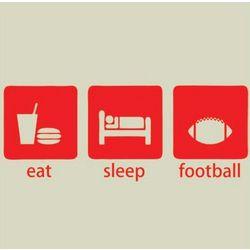 Eat, Sleep and Football T-Shirt