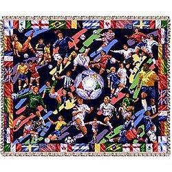 International Soccer Tapestry Throw