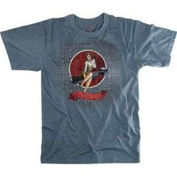 Vintage Blue Bombshell Betty Nose Art T-Shirt