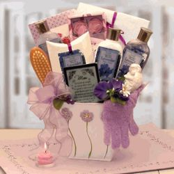 Mom's Lovely in Lavender Bath and Body Gift Basket