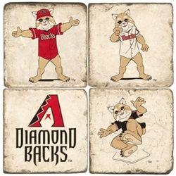 Arizona Diamondbacks Mascot Tumbled Italian Marble Coasters