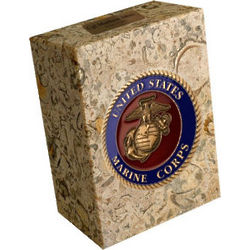 Marble Stand with Military Medallion