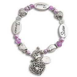 Personalized Sister Sentiment Bracelet