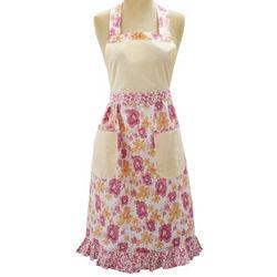 Pink Floral Vintage-Inspired Apron