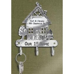 Our First Home Engravable Key Hook