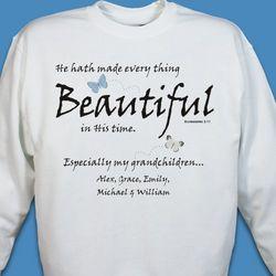 Made Everything Beautiful Personalized Sweatshirt