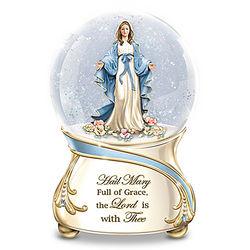 Blessed Virgin Mary Musical Glitter Globe