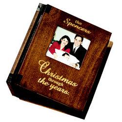 Wood Christmas Photo Album