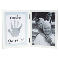 Grandpa Give Me Five Handprint Frame