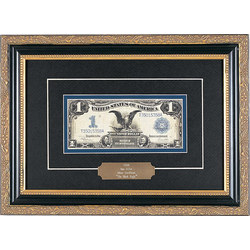 Framed 1899 Black Eagle Dollar