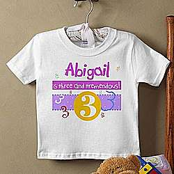 Personalized 'What's Your Number?' Infant T-Shirt
