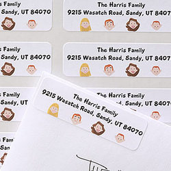 Personalized Cartoon Family Address Labels