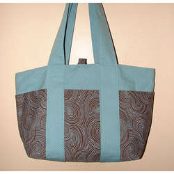 Organic Swirls Tote Diaper Bag