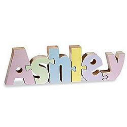 Personalized Pastel Name Puzzle Up to 7 Letters