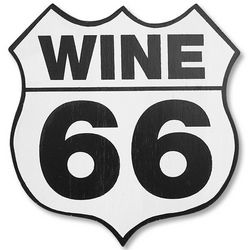 Route 66 Wooden Winery Plaque