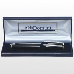 Personalized Black Lacquer Ballpoint and Rollerball Pens