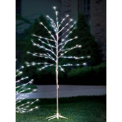 Prelit Glistening 6-Foot Silver Branch Tree