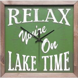 Relax You're on Lake Time Clock