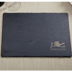Love Birds Engraved Slate Cutting Board