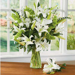 White Lily Flower Bouquet