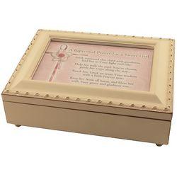 Girl's Baptismal Prayer Keepsake Music Box