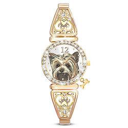 Women's Yorkie Stretch Watch with Dog Bone Design