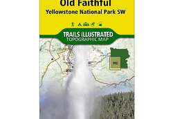 Old Faithful: Yellowstone National Park Trail Map