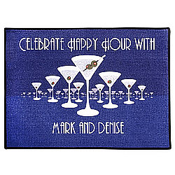 Personalized Martini Horizon Welcome Mat
