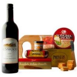 Gourmet Wine and Cheese Board Gift Basket