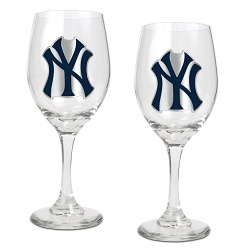 New York Yankees Wine Glass Set
