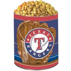 Texas Rangers 3 Way Popcorn Tin