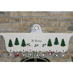 Personalized Christmas Tree Mantle Scarf