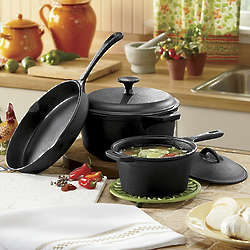 5-Piece Pre-Seasoned Cast Iron Set