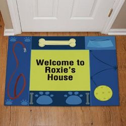 Personalized Doggy's House Doormat